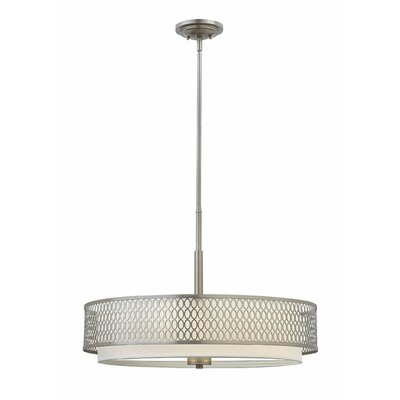 Jules 3-Light Drum Pendant Finish: Brushed Nickel, Size: 18.5 H x 26 W x 26 D