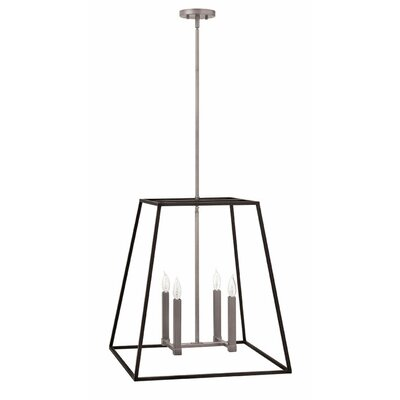 Burley Oak 4-Light Foyer Pendant