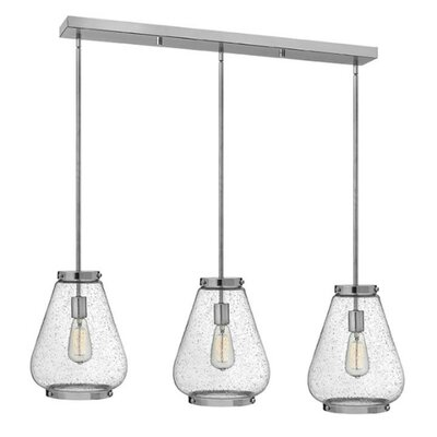 Finley 3-Light Kitchen Island Pendant Finish: Chrome