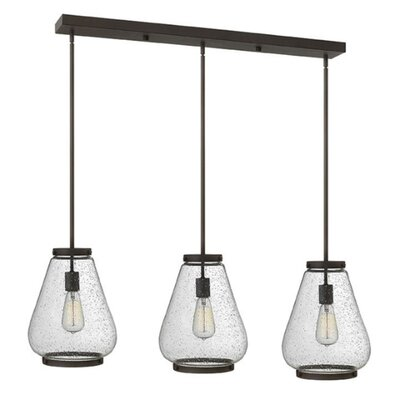 Etzel 3-Light Kitchen Island Pendant Color: Oil Rubbed Bronze