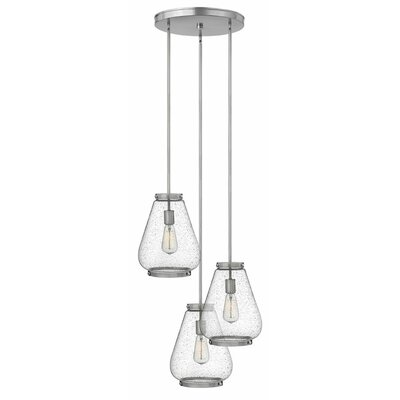 Etzel 3-Light Cluster Pendant Color: Brushed Nickel