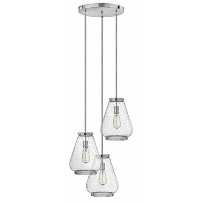 Etzel 3-Light Cluster Pendant Color: Chrome