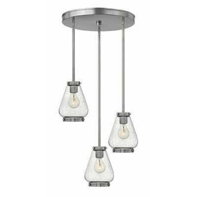 Finley 3-Light Cluster Pendant Finish: Brushed Nickel