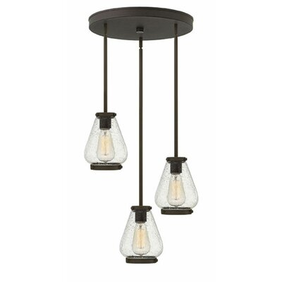 Finley 3-Light Cluster Pendant Finish: Oil Rubbed Bronze