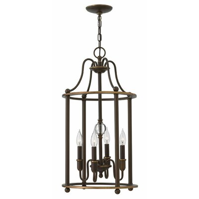 Dupuy 4-Light Foyer Pendant Finish: Light Oiled Bronze