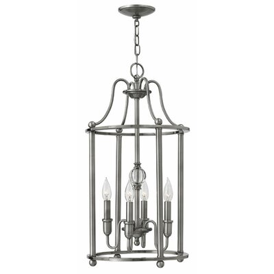 Elaine 4-Light Foyer Pendant Finish: Polished Antique Nickel