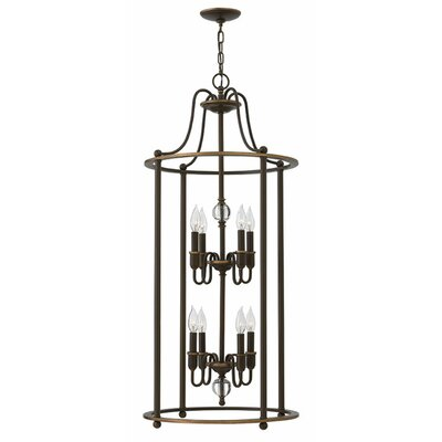Dupuy 8-Light Foyer Pendant Finish: Light Oiled Bronze
