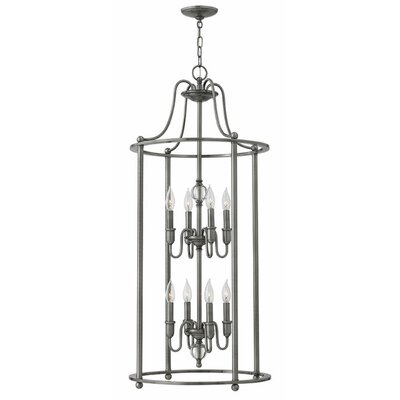 Elaine 8-Light Foyer Pendant Finish: Polished Antique Nickel