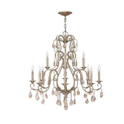 Carlton 12-Light Crystal Chandelier