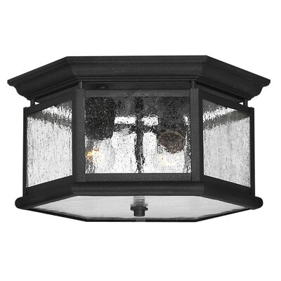 Christiane 2-Light Flush Mount Bulb Type: Energy Star Rated, Finish: Museum