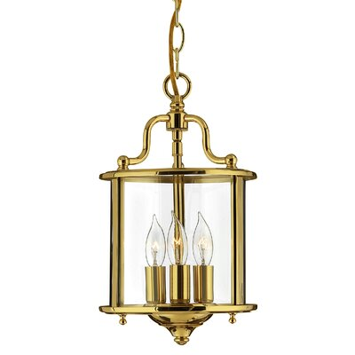 Robles 3-Light Foyer Pendant Finish: Polished Brass