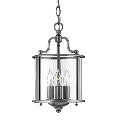 Gentry 3-Light Foyer Pendant Finish: Pewter