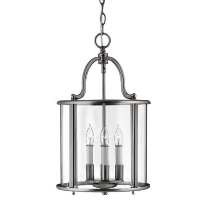 Robles 4-Light Foyer Pendant Finish: Pewter