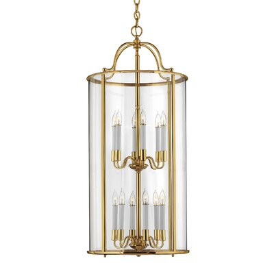 Robles 12-Light Foyer Pendant Finish: Polished Brass