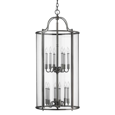 Gentry 12-Light Foyer Pendant Finish: Pewter
