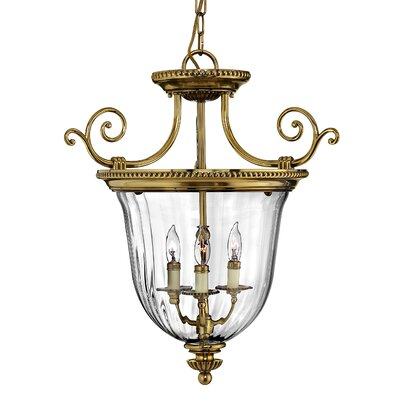 Diaw 3-Light Foyer Pendant Finish: Pewter, Size: 22.5 x 21.5