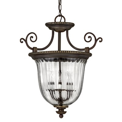 Oxford 3-Light Candle-Style Chandelier Size: 22.5 x 21.5, Finish: Olde Bronze