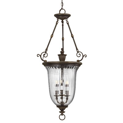 Oxford 3-Light Candle-Style Chandelier Size: 44.5 x 22.5, Finish: Olde Bronze