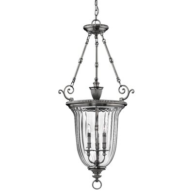 Diaw 3-Light Foyer Pendant Finish: Pewter, Size: 44.5 x 22.5