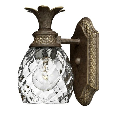 Plantation Wall Sconce in Pearl Bronze