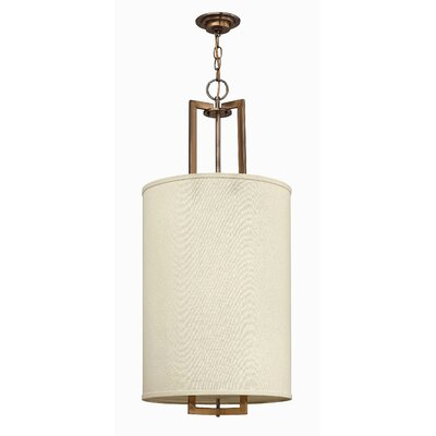 Hampton 3-Light Drum Pendant Finish: Brushed Bronze