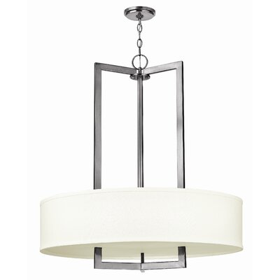 Hampton 3-Light Drum Pendant Finish: Antique Nickel, Bulb Type: 26W GU24
