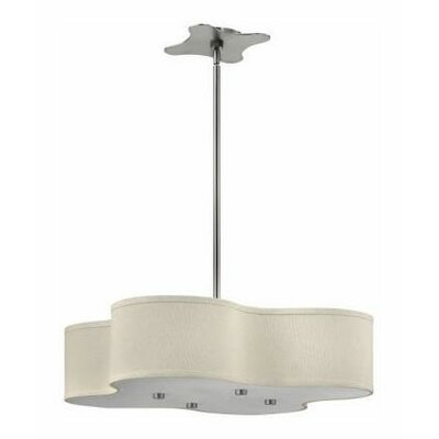Cirrus 4-Light Foyer Pendant Size: 12 H x 28 W x 28 D