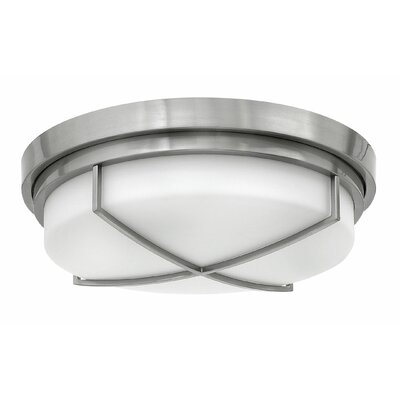 Halsey 3-Light Flush Mount Finish: Brushed Nickel