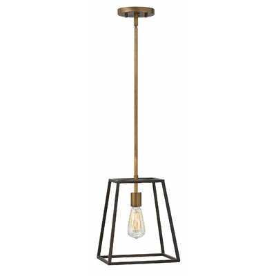 Burley Oak 1-Light Mini Pendant Color: Bronze