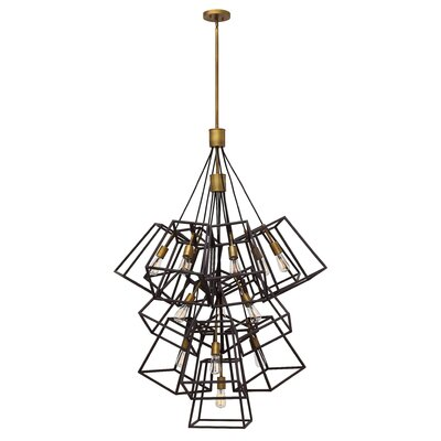 Fulton 13-Light Geometric Pendant Finish: Bronze