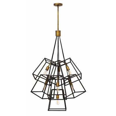 Fulton 7-Light Geometric Pendant Finish: Bronze