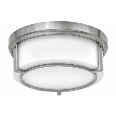 Weston 2-Light Flush Mount Finish: Brushed Nickel