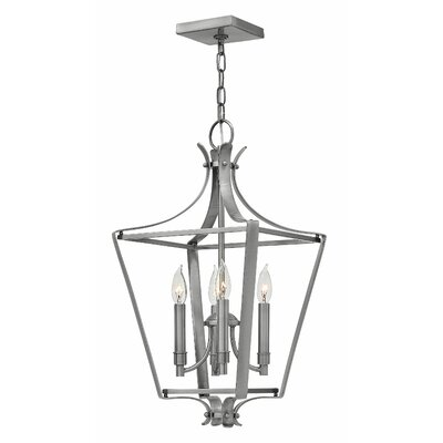 Acke 4-Light Foyer Pendant Size: 24 H x 12 W x 12 D