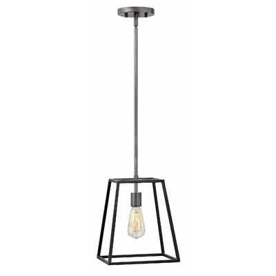 Burley Oak 1-Light Mini Pendant Finish: Aged Zinc