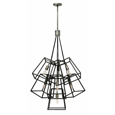 Fulton 7-Light Geometric Pendant Finish: Aged Zinc