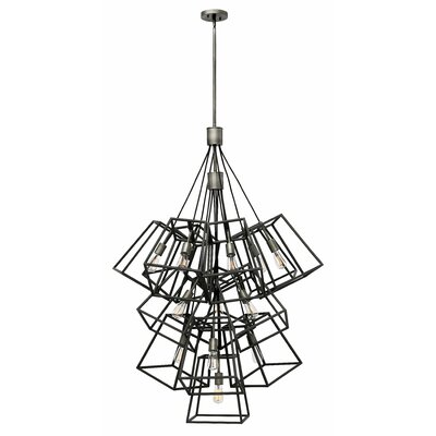 Fulton 13-Light Geometric Pendant Finish: Aged Zinc