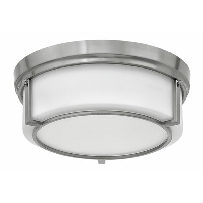 Weston 3-Light Flush Mount Finish: Brushed Nickel