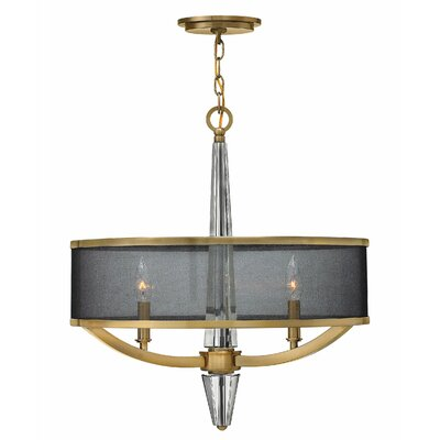 Jalen 3-Light Drum Pendant Finish: Brushed Caramel