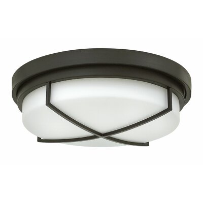 Halsey 3-Light Flush Mount Finish: Buckeye Bronze