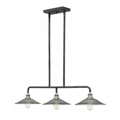 Cavett 3-Light Kitchen Island Pendant Finish: Aged Zinc