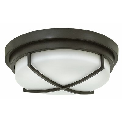 Halsey 2-Light Flush Mount Finish: Buckeye Bronze