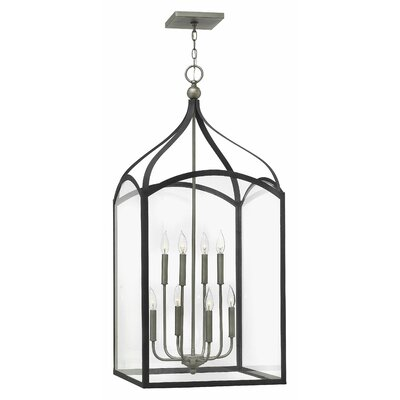 Clarendon 8-Light Foyer Pendant Finish: Aged Zinc