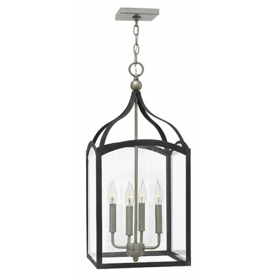 Clarendon 4-Light Foyer Pendant Finish: Aged Zinc