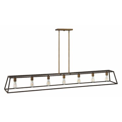 Fulton 7-Light Kitchen Island Pendant Finish: Bronze