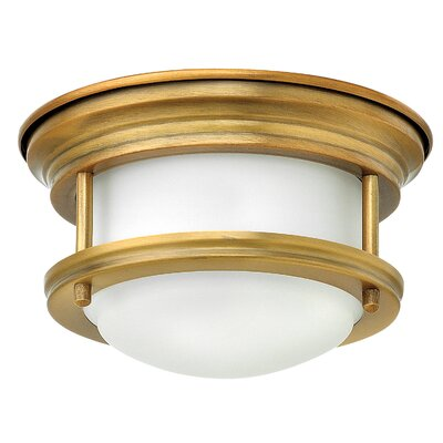 Hadley 1-Light Flush Mount Finish: Brushed Bronze