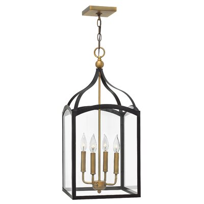 Clarendon 4-Light Foyer Pendant Finish: Bronze