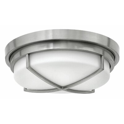 Halsey 2-Light Flush Mount Finish: Brushed Nickel