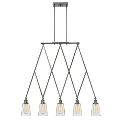 Lenita 5-Light Kitchen Island Pendant Finish: Polished Antique Nickel