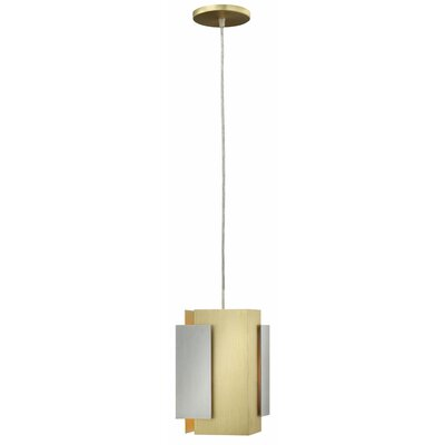 Stratus 1-Light Mini Pendant Color: Brushed Aluminum & Bronze