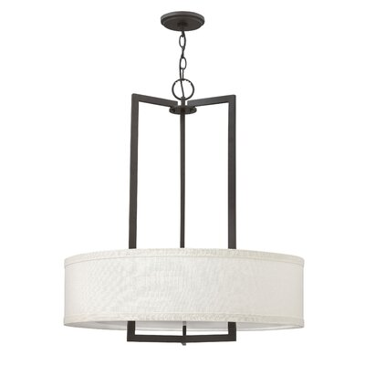 Hampton 3-Light Drum Pendant Finish: Buckeye Bronze, Size: 30.25 H x 26 W x 26 D, Bulb Type: 26W GU24